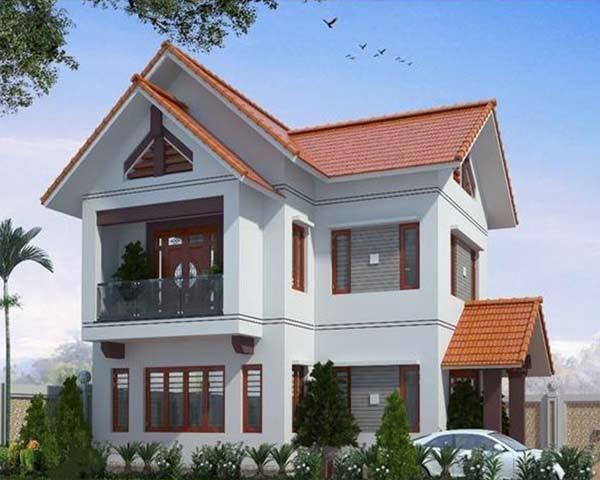 mẫu nhà 2 tầng mái ngói đẹp 20
