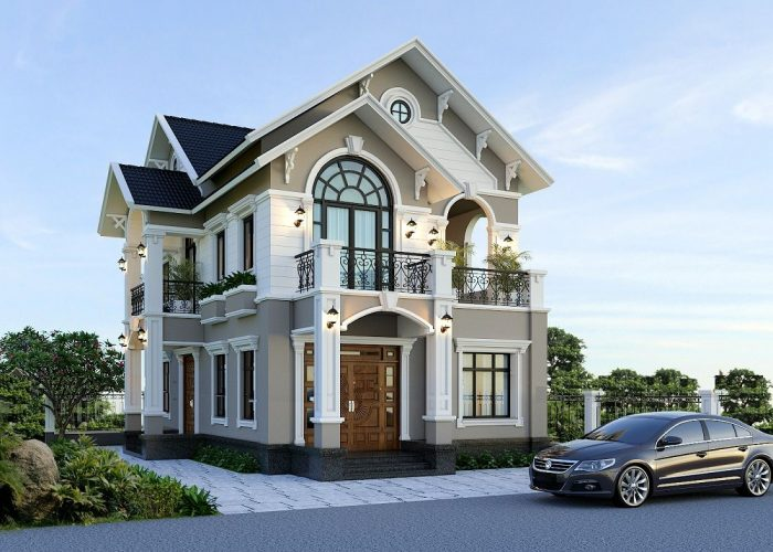 mẫu nhà 2 tầng mái ngói đẹp 22