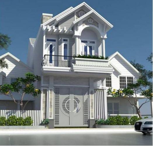 mẫu nhà 2 tầng mái ngói đẹp 5