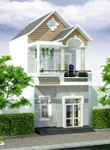 mẫu nhà 2 tầng mái ngói đẹp 7