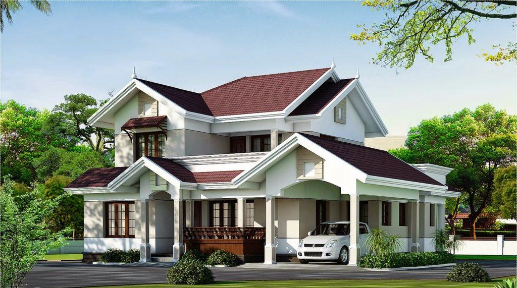 mẫu nhà 2 tầng mái thái đẹp 10