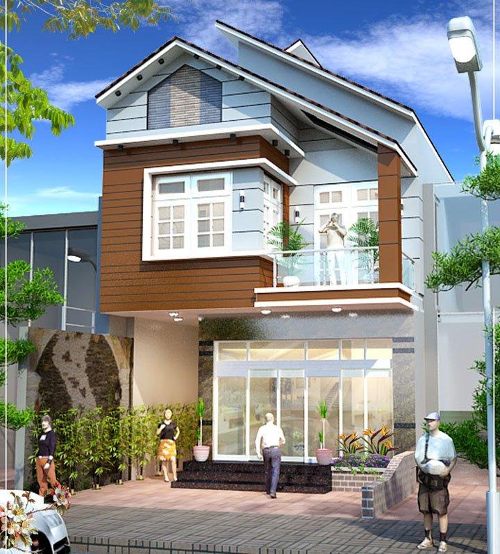 mẫu nhà 2 tầng mái thái đẹp 11