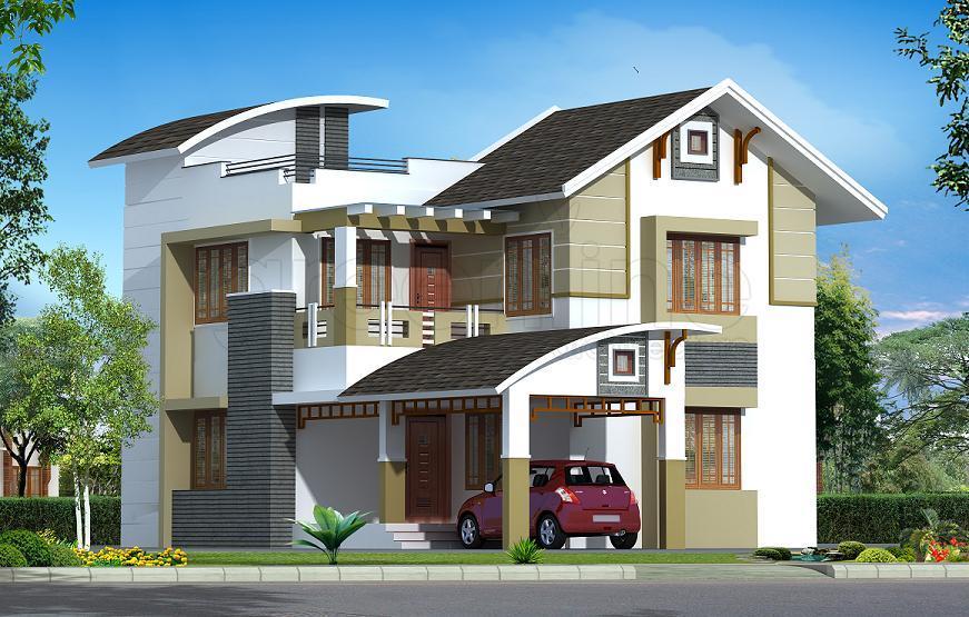 mẫu nhà 2 tầng mái thái đẹp 12