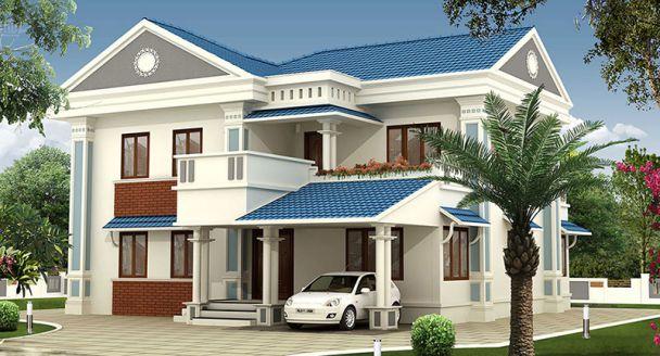 mẫu nhà 2 tầng mái thái đẹp 13