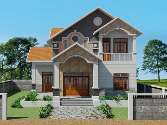 mẫu nhà 2 tầng mái thái đẹp 14