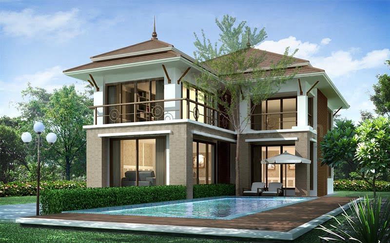 mẫu nhà 2 tầng mái thái đẹp 16