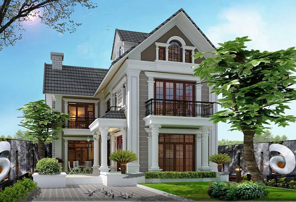 mẫu nhà 2 tầng mái thái đẹp 21