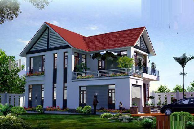 mẫu nhà 2 tầng mái thái đẹp 22