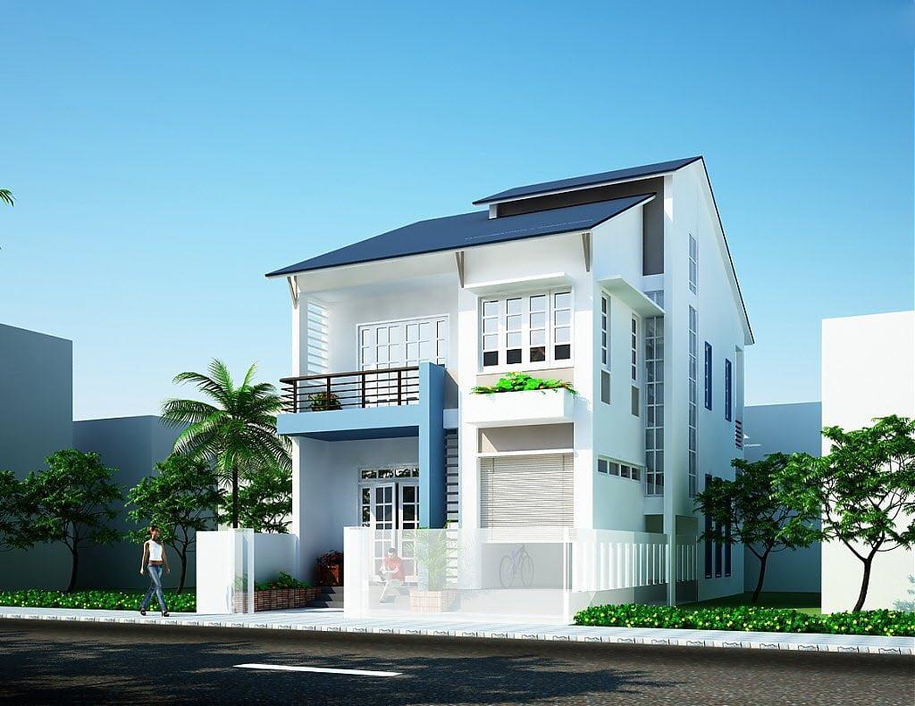 mẫu nhà 2 tầng mái thái đẹp 26