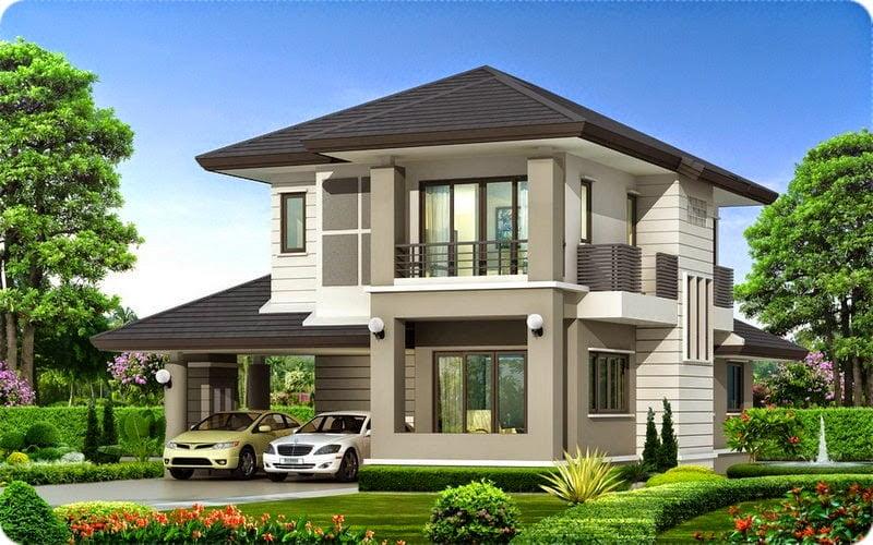 mẫu nhà 2 tầng mái thái đẹp 27
