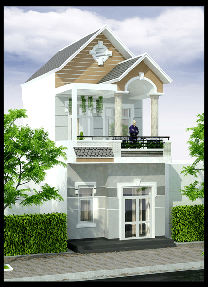 mẫu nhà 2 tầng mái thái đẹp 3