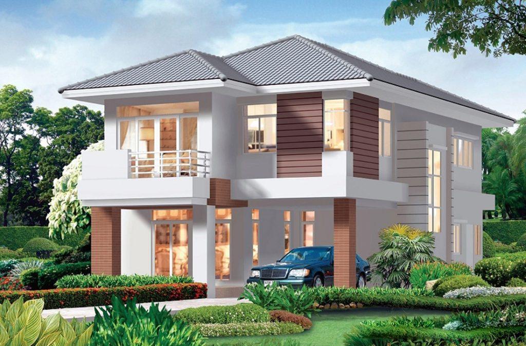 mẫu nhà 2 tầng mái thái đẹp 29