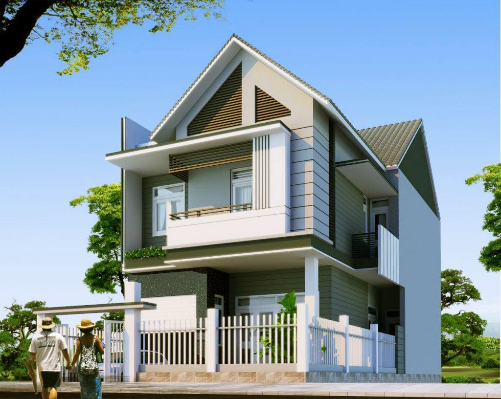 mẫu nhà 2 tầng mái thái đẹp 31