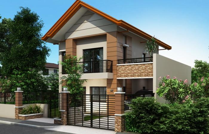 mẫu nhà 2 tầng mái thái đẹp 32