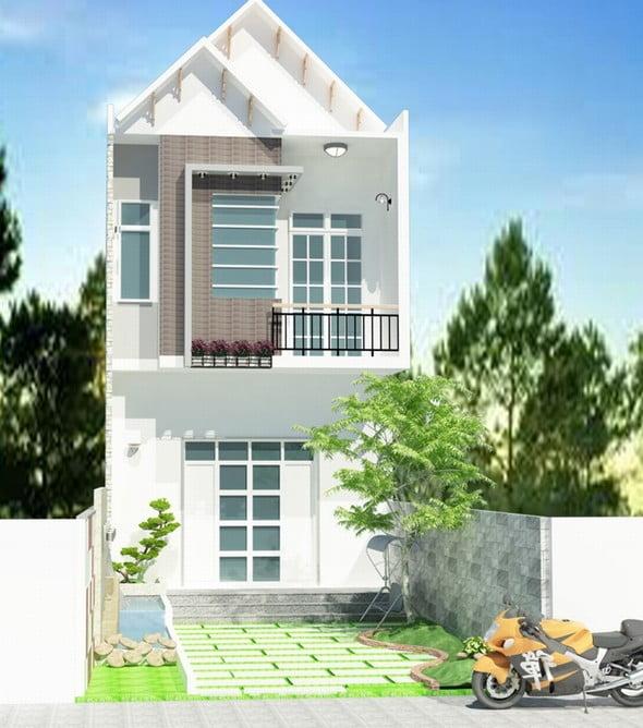 mẫu nhà 2 tầng mái thái đẹp 5
