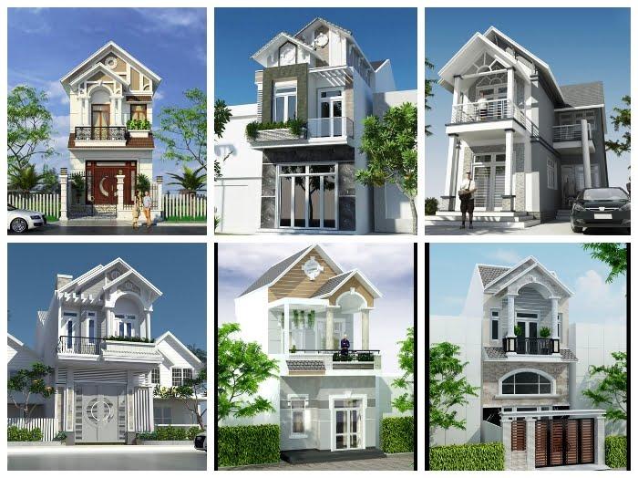 mẫu nhà 2 tầng mái thái