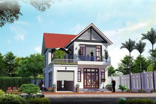 mẫu nhà 2 tầng mái thái nông thôn tiết kiệm chi phí xây dựng 1