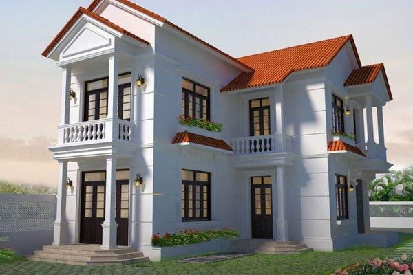 mẫu nhà 2 tầng mái thái nông thôn tiết kiệm chi phí xây dựng 9