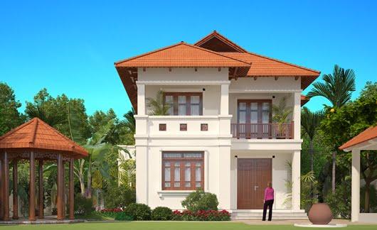 mẫu nhà 2 tầng mái thái nông thôn tiết kiệm chi phí xây dựng 5