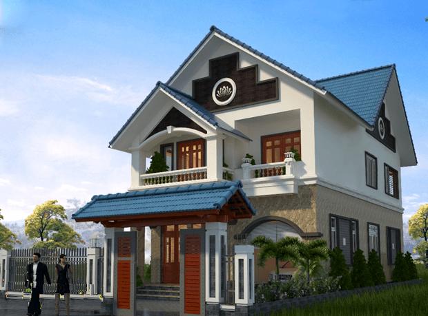 mẫu nhà 2 tầng mái thái nông thôn tiết kiệm chi phí xây dựng 8