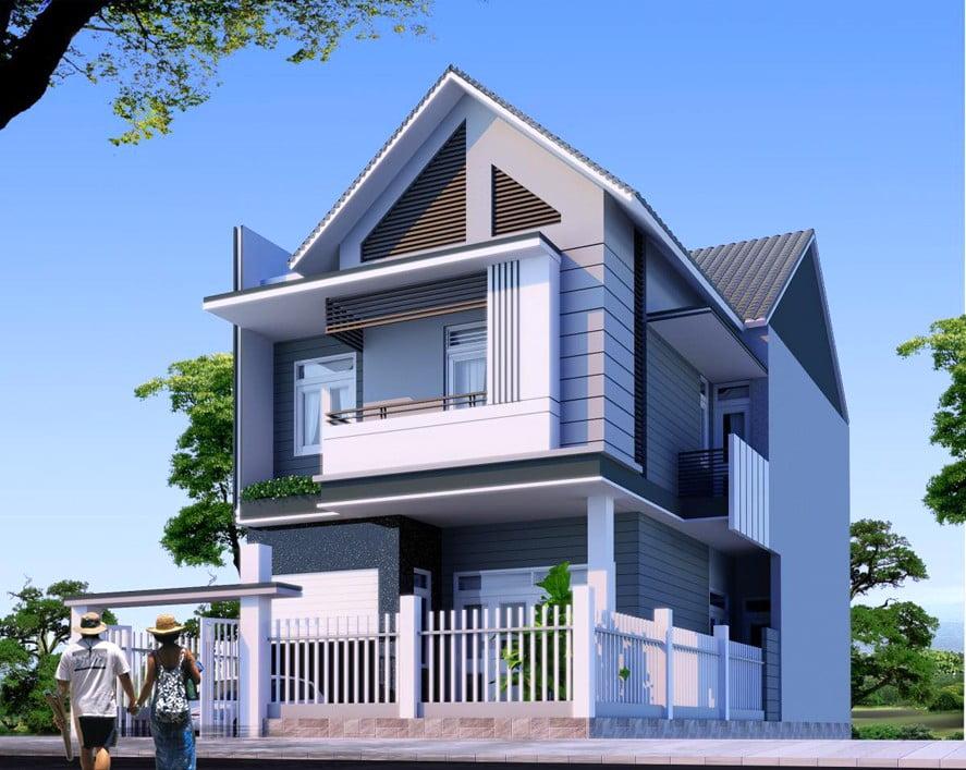mẫu nhà 2 tầng nông thôn đẹp 4