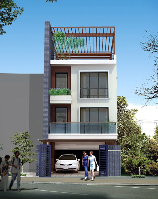mẫu nhà 3 tầng đẹp thiết kế sang trọng 1