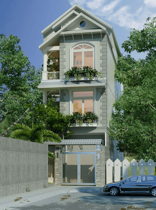 mẫu nhà 3 tầng đẹp thiết kế sang trọng 11