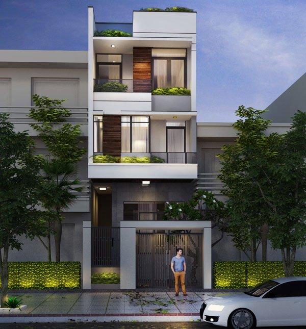 mẫu nhà 3 tầng đẹp thiết kế sang trọng 9