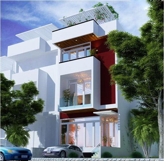 mẫu nhà 3 tầng đẹp thiết kế sang trọng 2