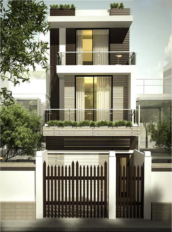 mẫu nhà 3 tầng đẹp thiết kế sang trọng 6