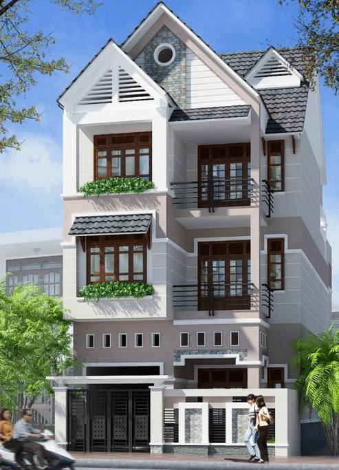 mẫu nhà 3 tầng đẹp thiết kế sang trọng 10