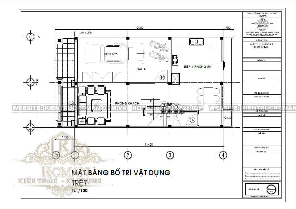 mẫu nhà 3 tầng đẹp cổ điển