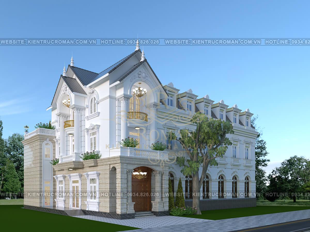 mẫu nhà 3 tầng đẹp nhất phối cảnh
