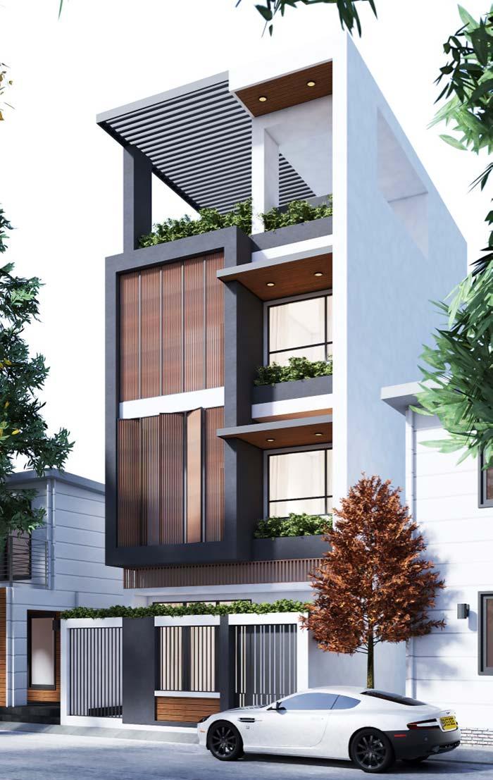 mẫu nhà 3 tầng mặt tiền 7m 17