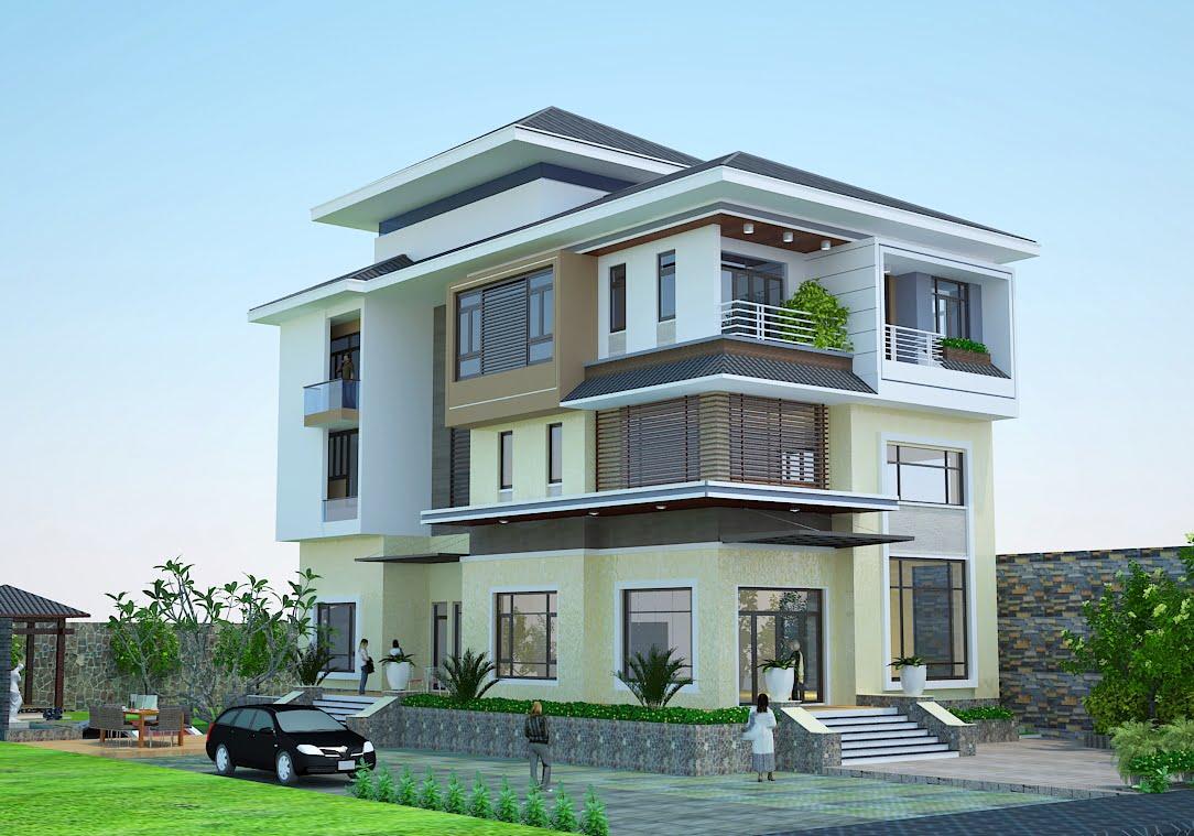 mẫu nhà 3 tầng mặt tiền 7m 8