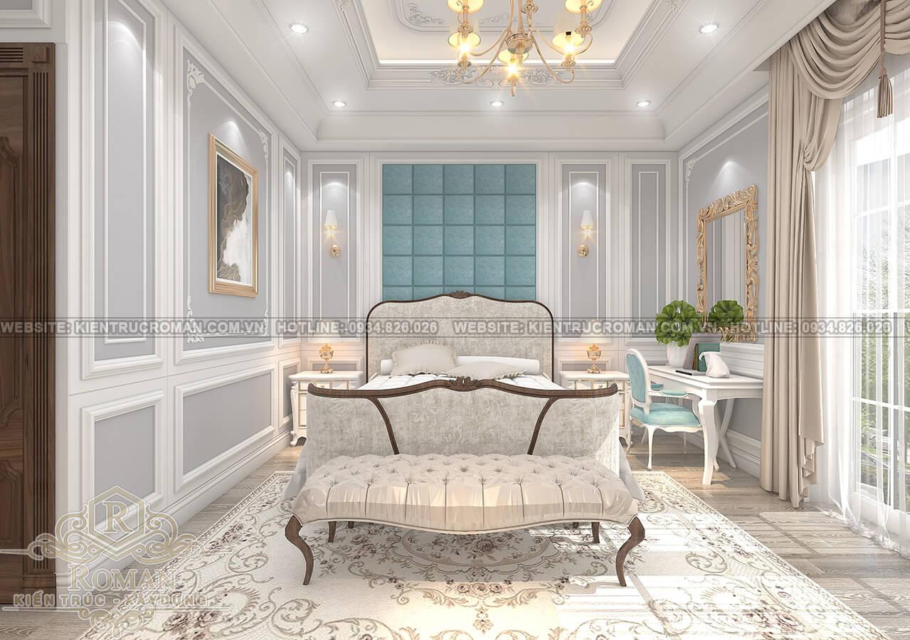 mẫu nhà biệt thự 3 tầng đẹp phòng ngủ