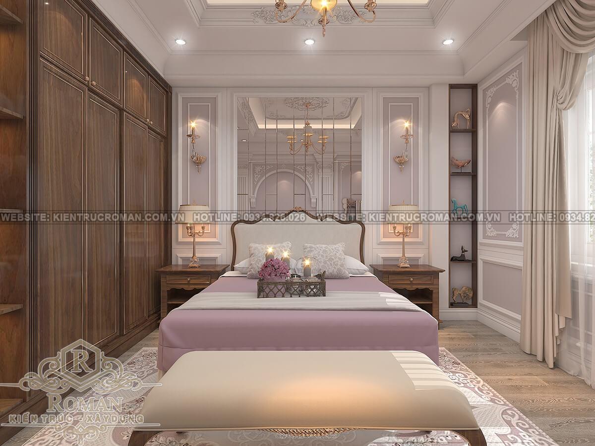 mẫu nhà biệt thự 3 tầng đẹp phòng ngủ con gái