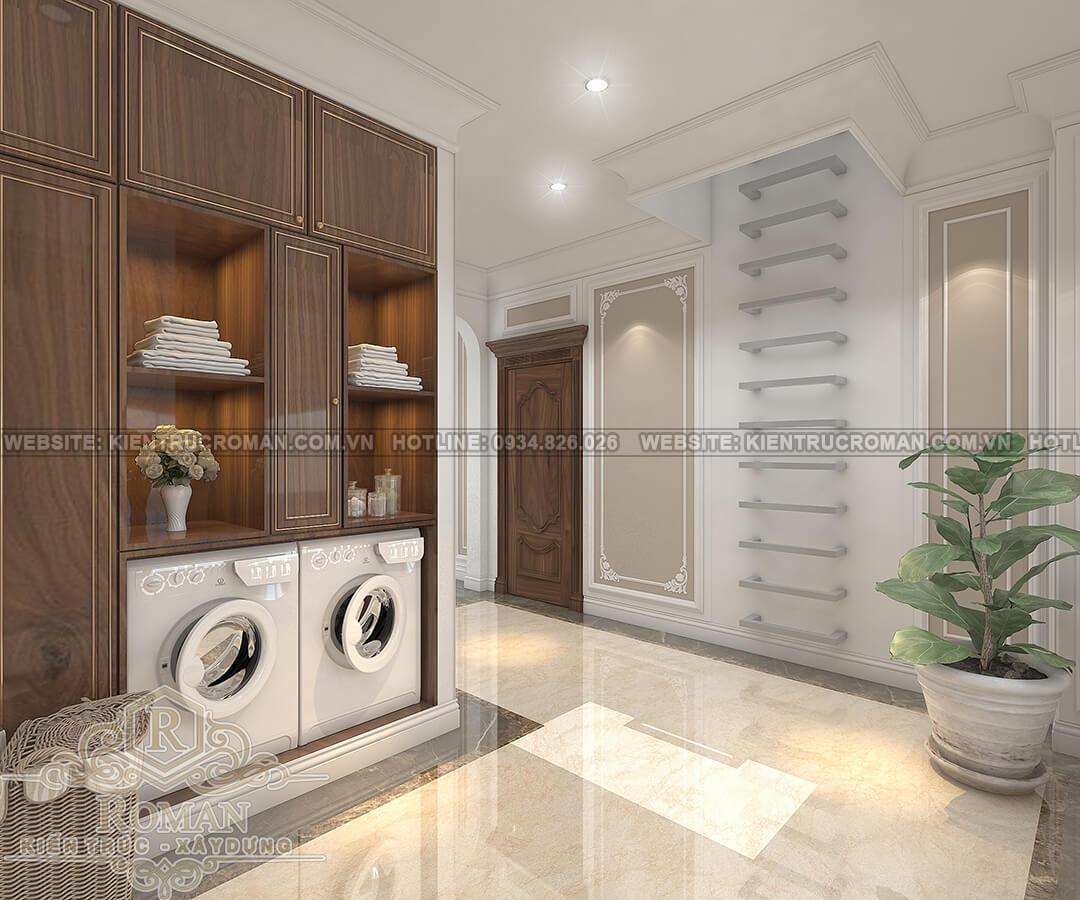 mẫu nhà biệt thự 3 tầng đẹp phòng giặt