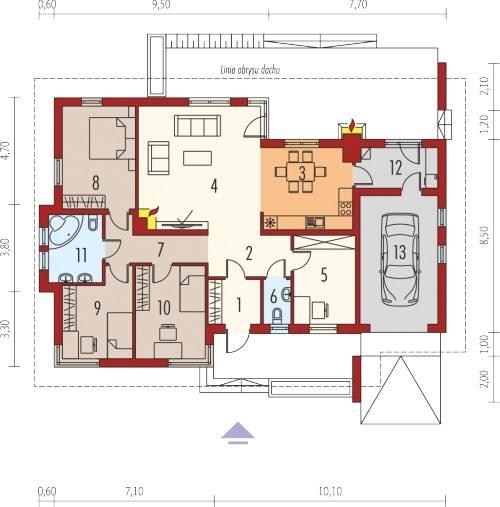 mẫu thiết kế nhà 1 tầng 3 phòng ngủ đẹp 7