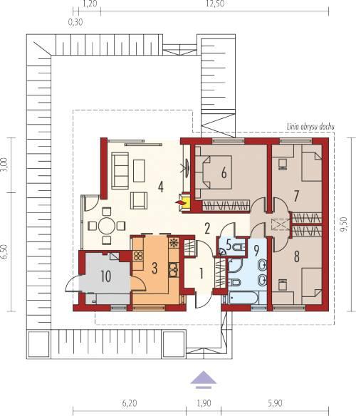 mẫu nhà cấp 4 3 phòng ngủ hiện đại 8