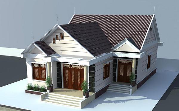 mẫu nhà cấp 4 nông thôn đẹp tiết kiệm chi phí xây dựng 8