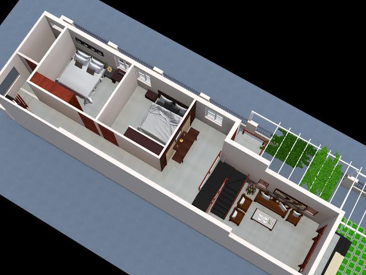 mẫu nhà cấp mái thái 5x20 2
