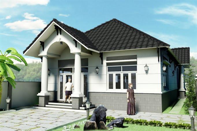mẫu nhà cấp 4 nông thôn đẹp tiết kiệm chi phí xây dựng 7