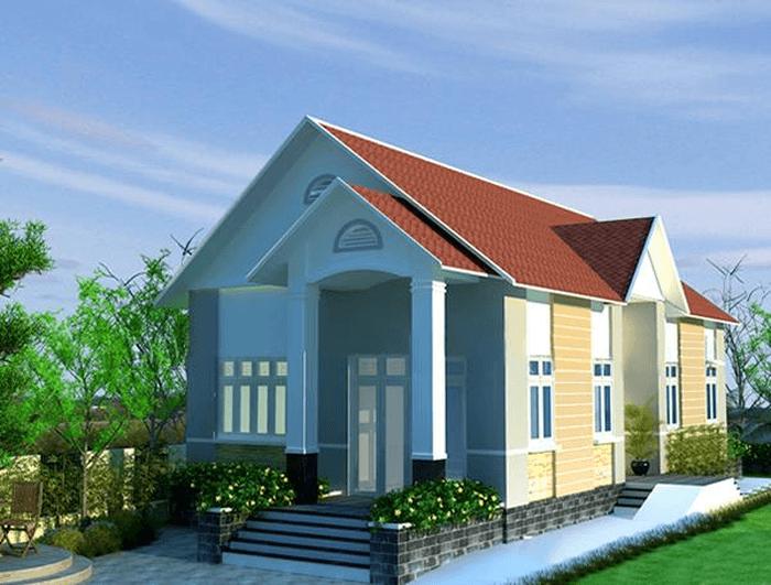 mẫu nhà cấp 4 nông thôn đẹp tiết kiệm chi phí xây dựng 1