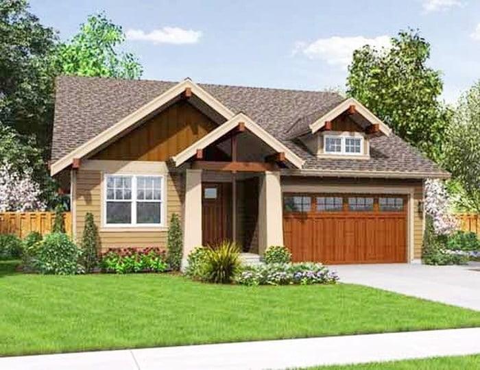 mẫu nhà cấp 4 nông thôn đẹp tiết kiệm chi phí xây dựng 3