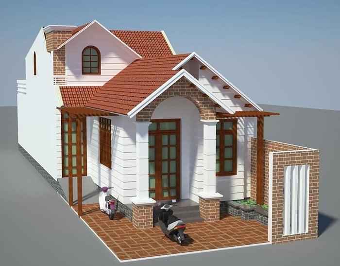 mẫu nhà cấp 4 nông thôn đẹp tiết kiệm chi phí xây dựng 5