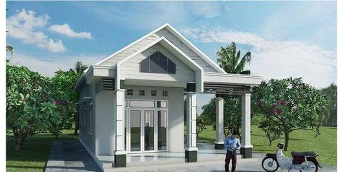 mẫu nhà cấp 4 nông thôn đẹp tiết kiệm chi phí xây dựng 10
