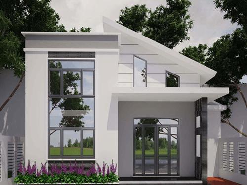 Mẫu nhà đẹp 1 tầng giá rẻ được nhiều gia đình trẻ xây dựng