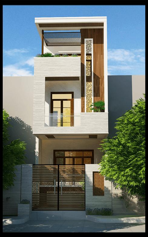 các mẫu nhà đẹp 2 tầng 1 tum phù hợp cho mọi gia đình 1