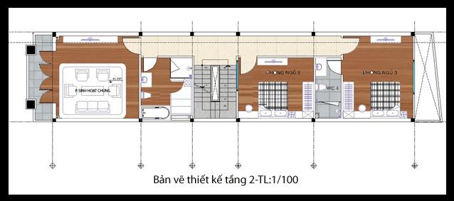 các mẫu nhà đẹp 2 tầng 1 tum phù hợp cho mọi gia đình 3